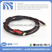 Plaqué or 1.3V HDMI Kabel avec nylon