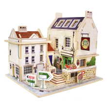 Wood Collectibles Toy for Global Houses-Britain Bar
