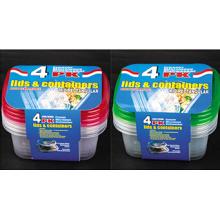Rectangular Plastic Take Away Microwavable Recipiente para Alimentos 24oz