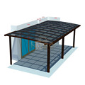 Flat Tak Cover Garage Car Polycarbonate Double Carport