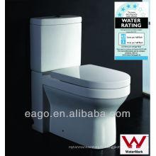 EAGO Watermark WC à deux pièces WC en céramique WA101S