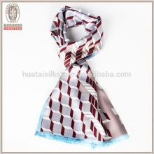 Men Europe Self fringe double layer silk men scarf
