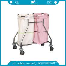 AG-Ss019 Ss Lin Trolley Easy Clean Commercial Hospital Linen Carts