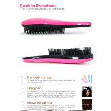 Colorido plástico Materia Hair Brush Detangle Pele
