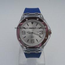 Relógios de mão de silicone Relógios de silicone analógicos desportivos baratos para homens Senhoras