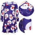 Professionelle bunte gedruckte Weihnachtsmädchen-Abnutzungs-Kleid-süße Kinderkleidung