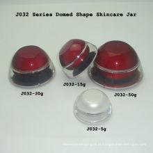 Frascos acrílicos vermelhos de amostra Recipientes cosméticos biodegradáveis