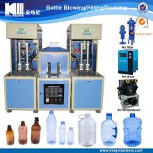 Máquina de moldeo que sopla de la botella semi automática del animal doméstico / que hace la máquina