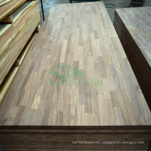 Finger Joint Board Made of American Walnut for Wall Panel