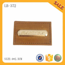 LB372 Модный дизайн металлический логотип джинсы кожа патч наклейки для сумочки / одежды