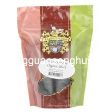 Plástico saco de chá preto orgânico / levantar-se bolsa de chá