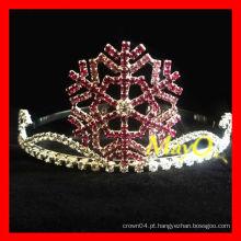 Coroa da tiara do concerto do floco de neve da beleza