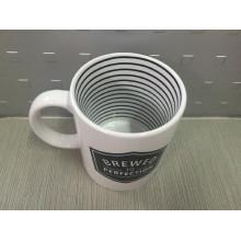 Круглая печатная кружка, рекламная керамическая кружка