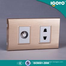Igoto South American 2 Gang 2pin Wall Switch and Socket