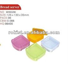 storage, container, colorful plastic bread server
