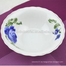 Tazón de cerámica de 7 pulgadas nuevo hueso china