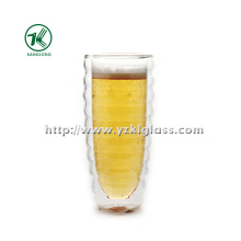 Coupe en verre double vitrage pour décoration maison (Dia8.6cm, H: 16cm, 470ml)