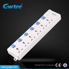 6 muti universal muti switch plug socket