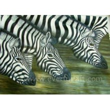 Handgemalte Zebra-Ölgemälde-Segeltuch-Kunst