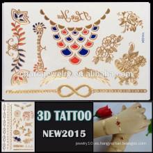 OEM nuevo tatuaje al por mayor estilo 3D impermeable tatuaje adhesivo hermoso diseño para el cuerpo YH 024