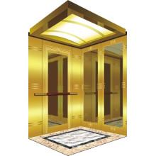 Salle de machines Ascenseur pour passagers avec ascenseur de luxe Décoration de voiture Chine pour les suites