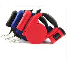 Laisse escamotable multifonctionnelle de laisse de chien de laisse de chien de conception escamotable multifonctionnelle