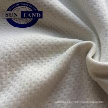 Malha 100% poliéster escovado tecido de malha de borboleta para o vestuário
