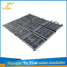 Panel solar portátil flexible de 9 * 35W Sunpower