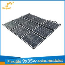 9*35W Sunpower Flexible Portable Solar Panel