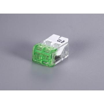 Conectores de fio de impulso de porca de alavanca sem parafusos de 2 polos