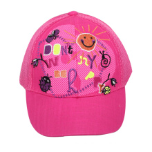 Baby Girls′ Trucker Cap with Mesh Back and Slide Closure