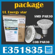 UL led par 30 E26 dimmable spot lighting 8w 11w 16w 20w 16w led par lights par20w par 30 par38 all UL with energy star