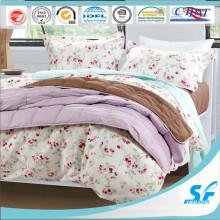 Conjunto de cama super macio 100% algodão cobertor de avião para baixo