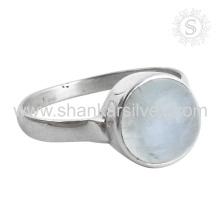 Neuer glänzender Regenbogen-Mondstein-Silber-Ringgroßverkauf 925 Sterlingsilber-Schmucksache-indische handgemachte silberne Schmucksachen