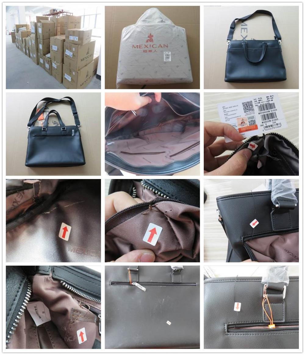Final Random Quality Control For Leather Bag