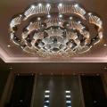 Morden y el tamaño grande de la flor de la red Hotel de cristal de lujo lámpara colgante