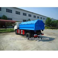 Suministro de fábrica 4 cbm solo brazo basura camión