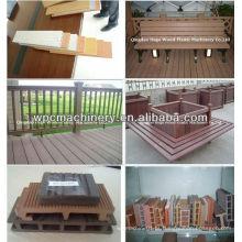 PP PVC PVC WPC rodapé linha de produção / WPC placa extrusora / perfil de máquina