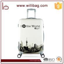 Quality Fancy Trolley Travel Luggage Aluminum Lead Luggage Bags