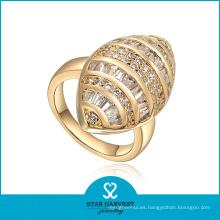 Venta al por mayor determinada de oro de calidad superior de la joyería de plata de la CZ (SH-J0049R)