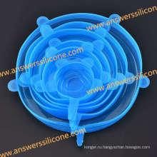 Пользовательские многоразовые силиконовые эластичные крышки для пищевых продуктов