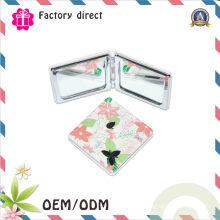 Miroir de maquillage de poche de miroir cosmétique pliable et approprié compact