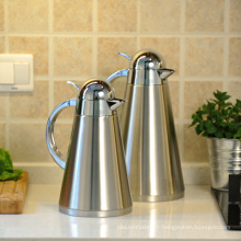 Pot de vide de pot de café isolé par vide thermique de l'acier inoxydable 18/8