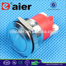 Daier GQ-19B Interruptor de botón de acero inoxidable