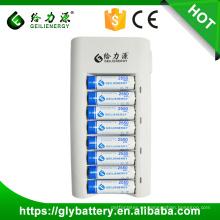 Precio al por mayor 8 ranura ni-mh ni-cd aa aaa cargador de batería automático