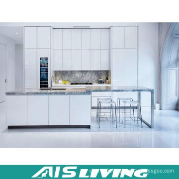 Laque blanche avec des meubles de placards de cuisine de quartz (AIS-K348)