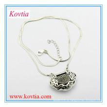 Moda amizade 925 colar de prata esterlina para o menino