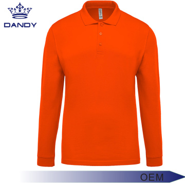 Langarm Business Polo Shirt