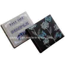 Customized Design Impressão Linen Tela Photo Album Bordado Preto PU Leather Photo Album