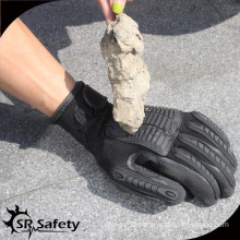 SRSAFETY most competitive prices seamless liner firm grip oilfield impact gloves/high impact gloves